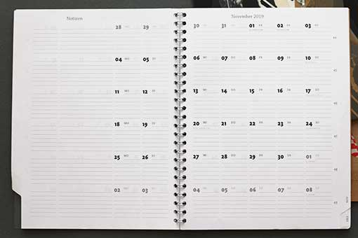 monthly overview blank